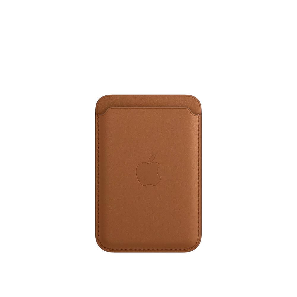Купить Кожаный чехол-бумажник iLoungeMax Leather Wallet MagSafe Saddle Brown для iPhone 12 | 12 mini | 12 Pro | 12 Pro Max OEM