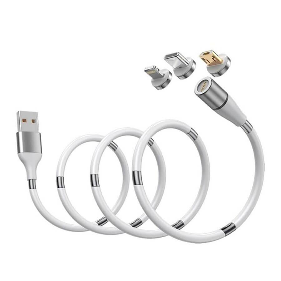 Купить Зарядный магнитный кабель oneLounge MagLink USB to Micro-USB | Type-C | Lightning White 0.9m