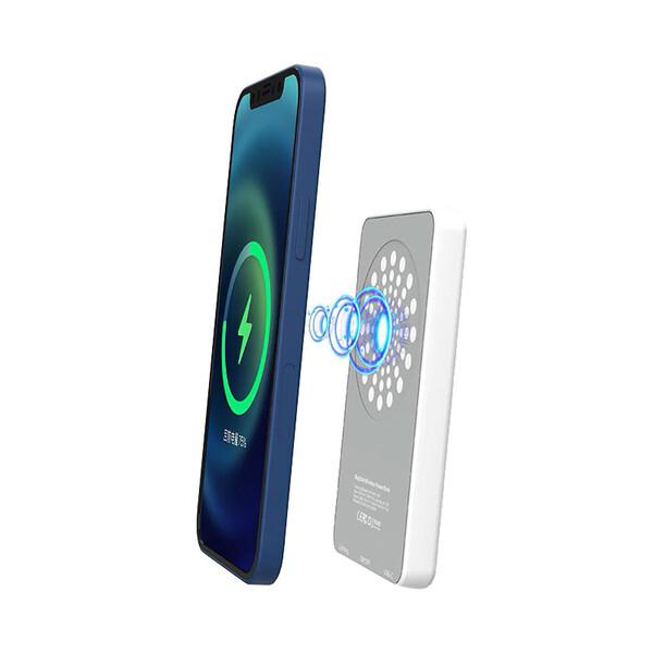 Внешний аккумулятор с беспроводной зарядкой iLoungeMax MagSafe Wireless Charger Power Bank 5000mAh White (с поддержкой анимации)