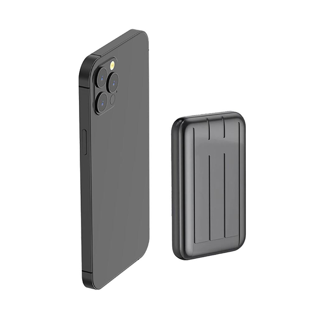 Купить Внешний аккумулятор с беспроводной зарядкой iLoungeMax Charge Fast™ MagSafe Power Pack 15W 5000mAh Gray (с поддержкой анимации)