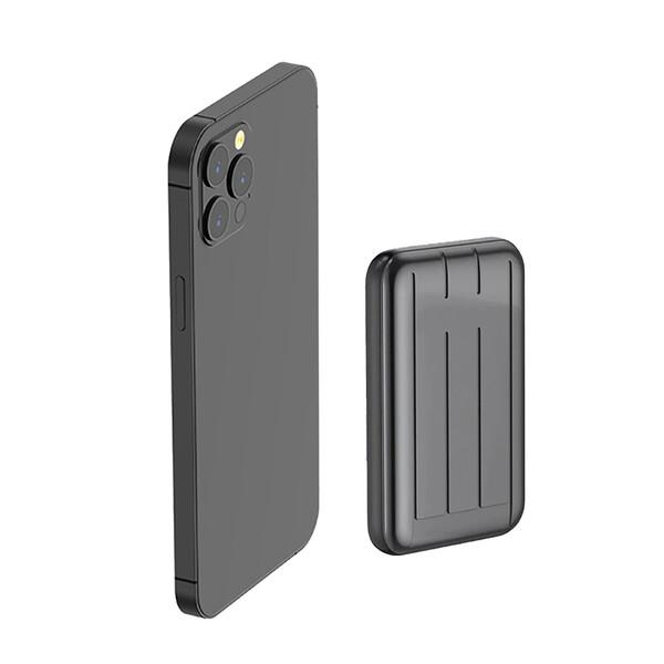 Внешний аккумулятор с беспроводной зарядкой iLoungeMax Charge Fast™ MagSafe Power Pack 15W 5000mAh Gray (с поддержкой анимации)