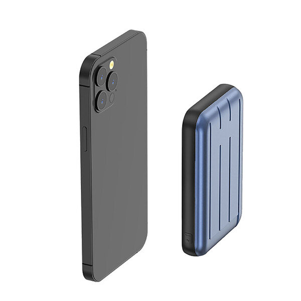 Внешний аккумулятор с беспроводной зарядкой iLoungeMax Charge Fast™ MagSafe Power Pack 15W 5000mAh Blue (с поддержкой анимации)