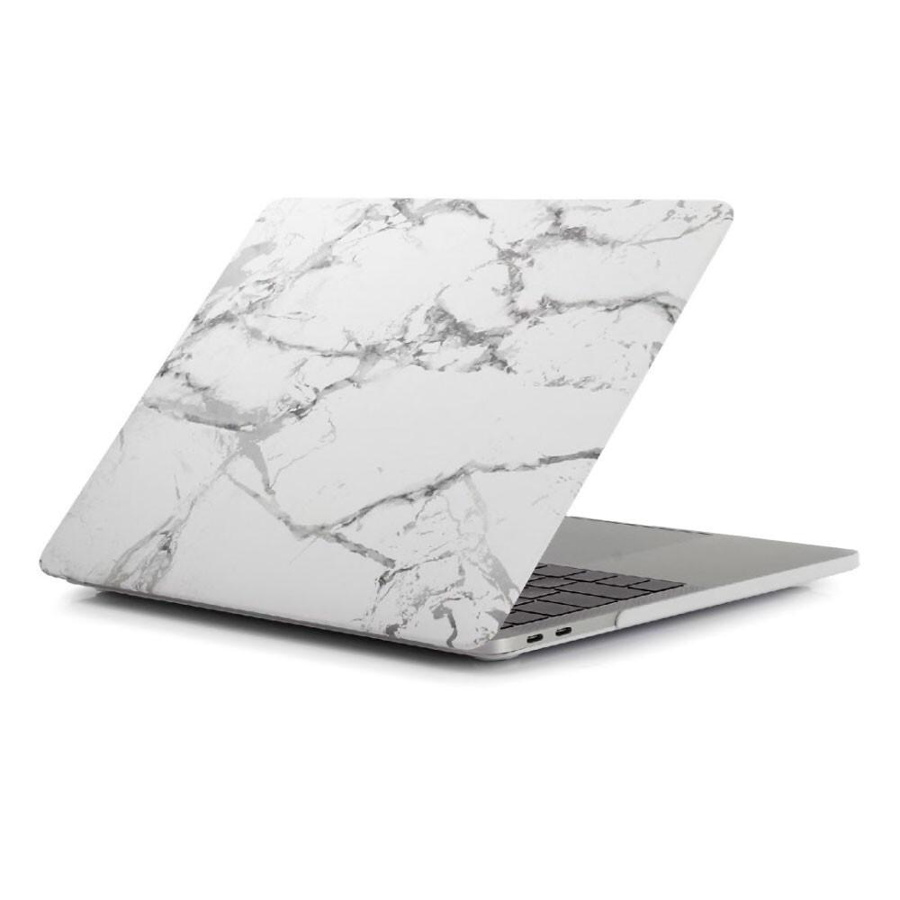 "Мраморный чехол oneLounge Marble White   Gray для MacBook Pro 16"" (2019)"