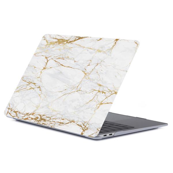 """Мраморный чехол iLoungeMax Marble White   Yellow для MacBook Air 13"""" (M1   2020   2019   2018)"""