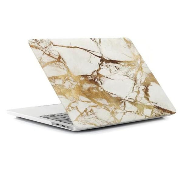 "Пластиковый чехол iLoungeMax Marble White | Yellow для MacBook Pro 13"" (M1 | 2020 | 2019 | 2018)"