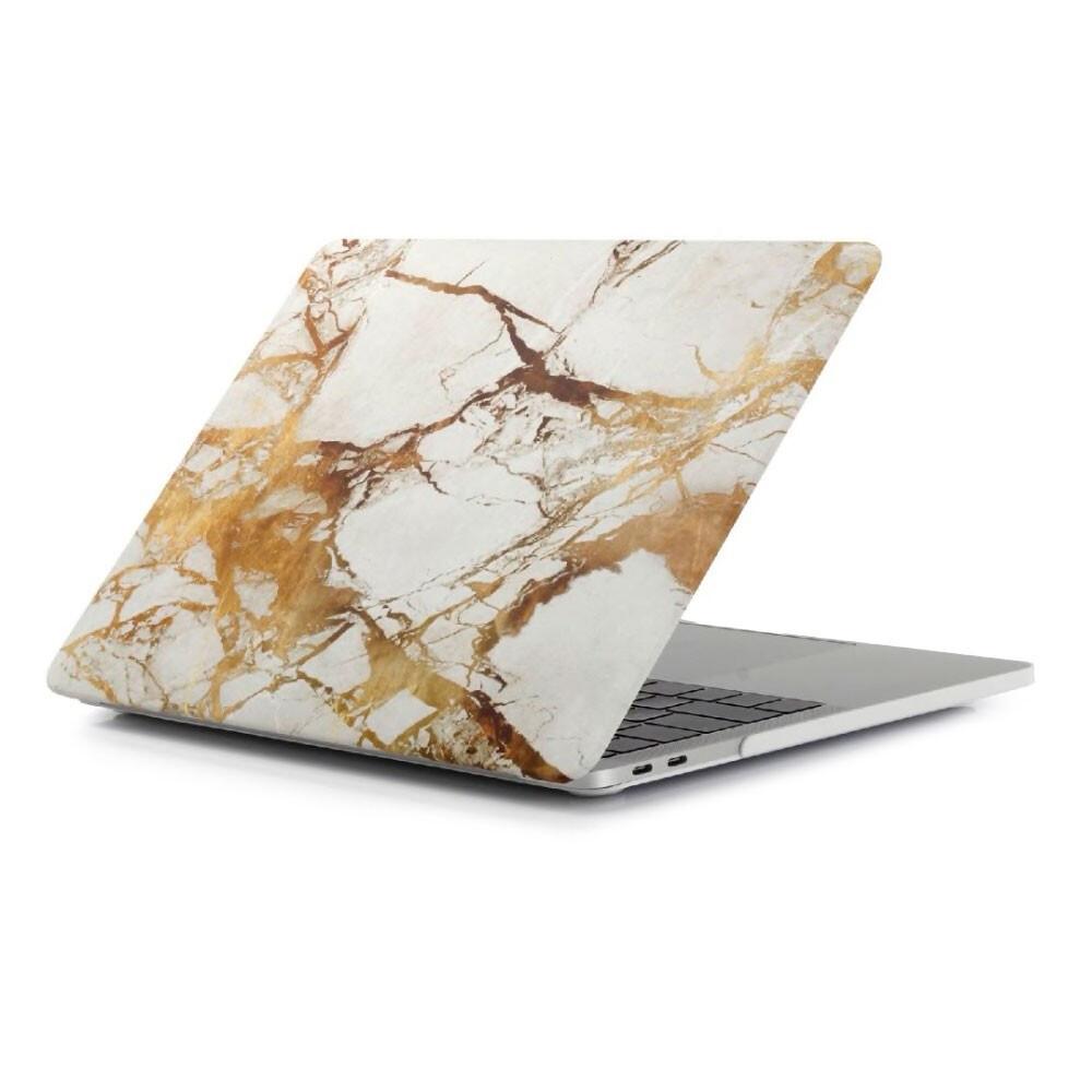 "Мраморный чехол oneLounge Marble White | Yellow для MacBook Pro 16"" (2019)"