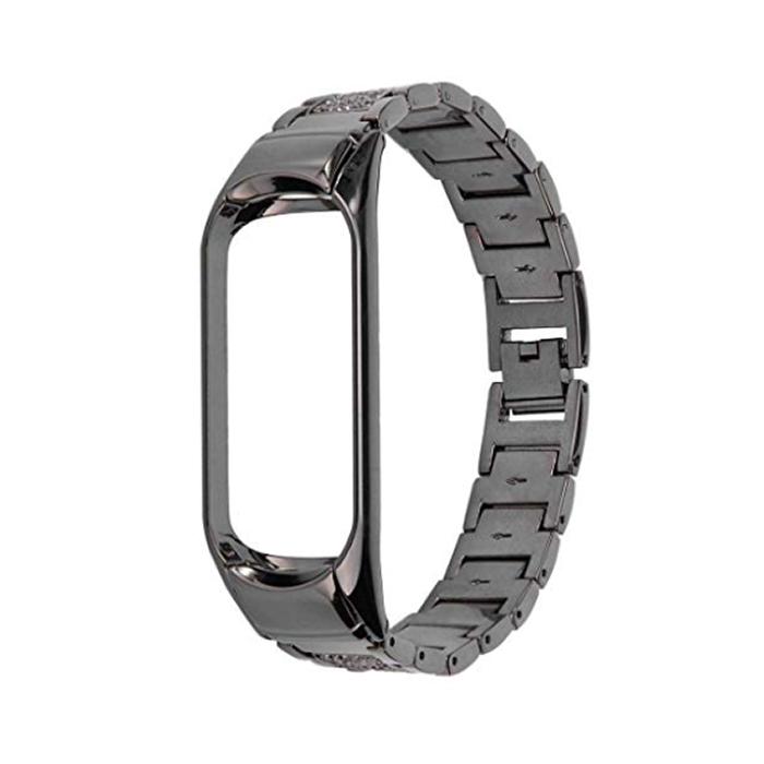 Купить Ремешок iLoungeMax Metal Strap Black для Xiaomi Mi Band 3 | 4