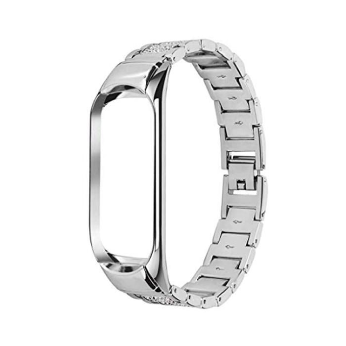 Купить Ремешок oneLounge Metal Strap Silver для Xiaomi Mi Band 3 | 4