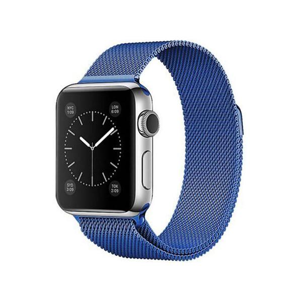 Ремешок iLoungeMax Milanese Loop Blue для Apple Watch 42mm   44mm SE   6   5   4   3   2   1