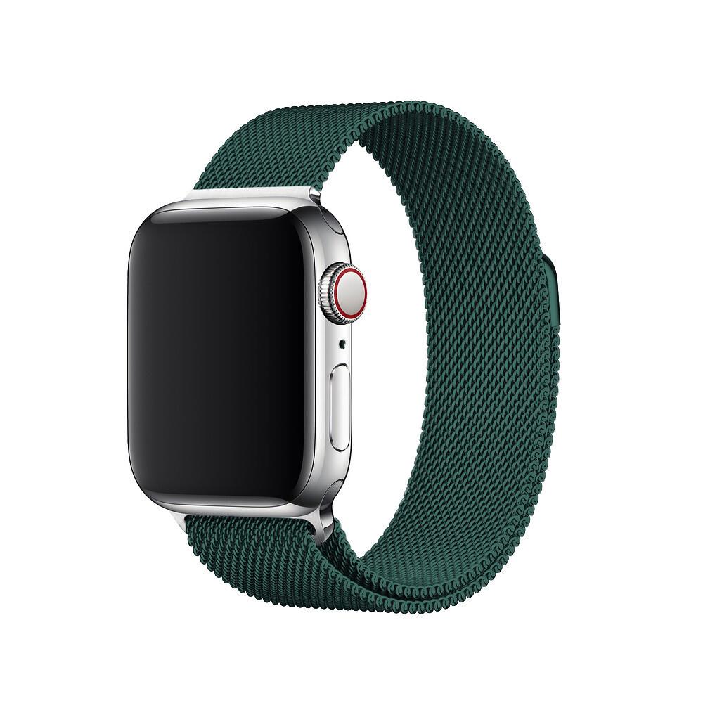 Ремешок iLoungeMax Milanese Loop Forest Green для Apple Watch 40mm | 38mm SE | 6 | 5 | 4 | 3 | 2 | 1 OEM