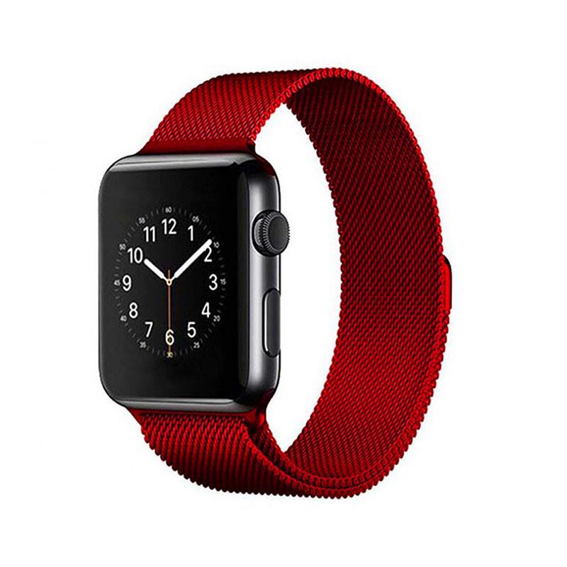 Ремешок iLoungeMax Milanese Loop Red для Apple Watch 42mm | 44mm SE | 6 | 5 | 4 | 3 | 2 | 1