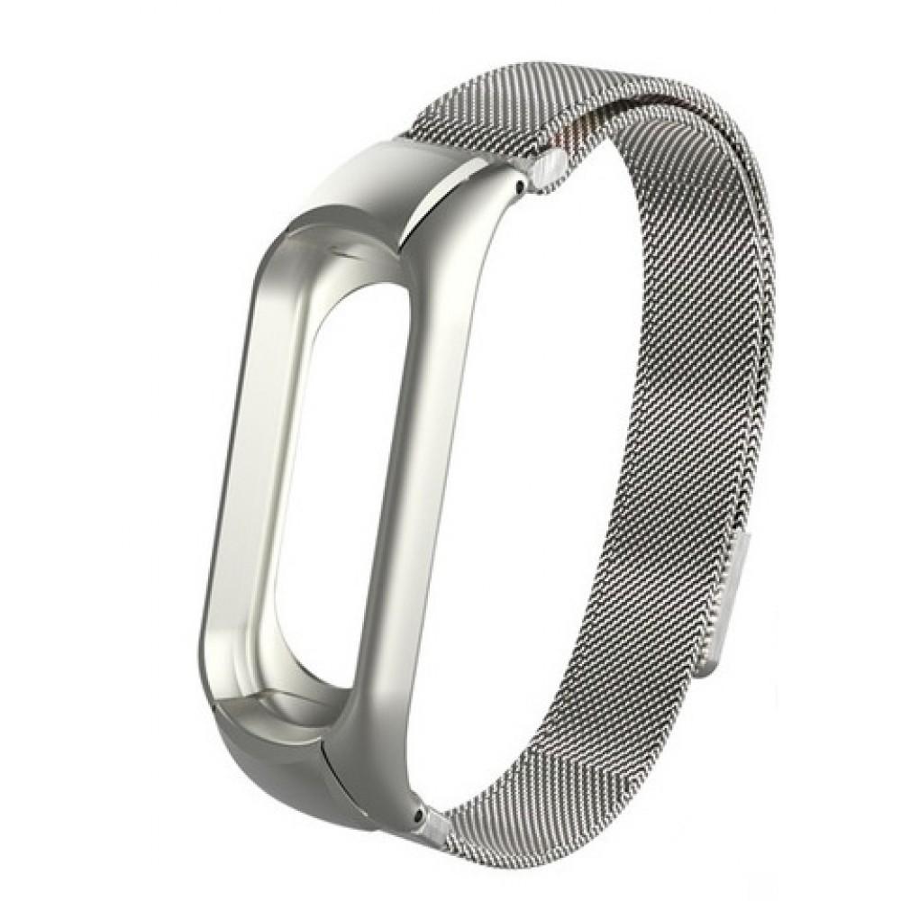 Купить Металлический ремешок oneLounge Milanese Loop Silver для Xiaomi Mi Band 3 | 4