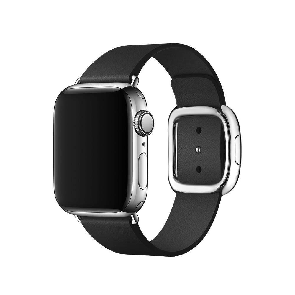 Ремешок oneLounge Modern Buckle Black для Apple Watch 40mm | 38mm SE | 6 | 5 | 4 | 3 | 2 | 1 OEM
