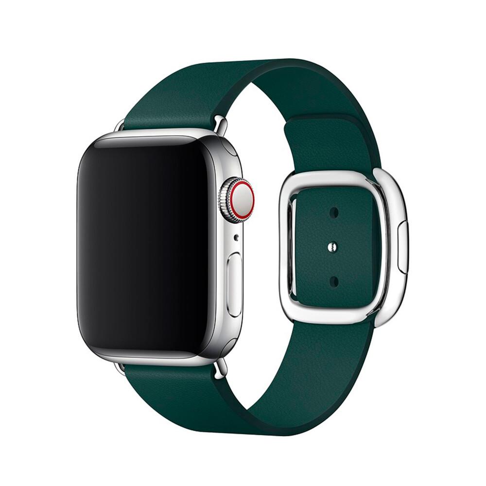 Ремешок iLoungeMax Modern Buckle Green для Apple Watch 44mm | 42mm SE | 6 | 5 | 4 | 3 | 2 | 1 OEM