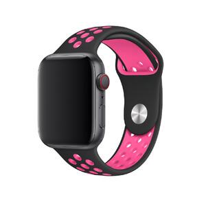 Купить Ремешок oneLounge Nike Sport Band Black / Pink для Apple Watch 42mm/44mm Series 5/4/3/2/1 OEM