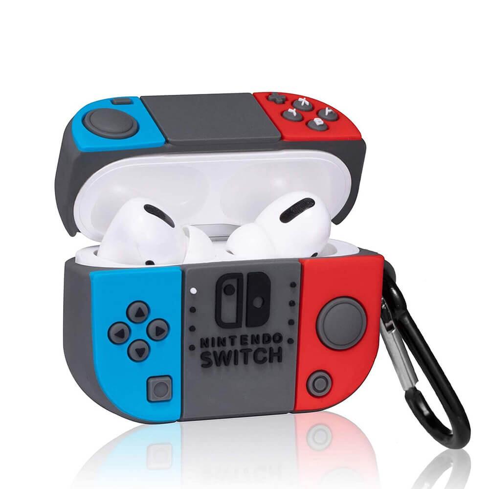 Силиконовый чехол с карабином iLoungeMax Nintendo Switch для AirPods Pro