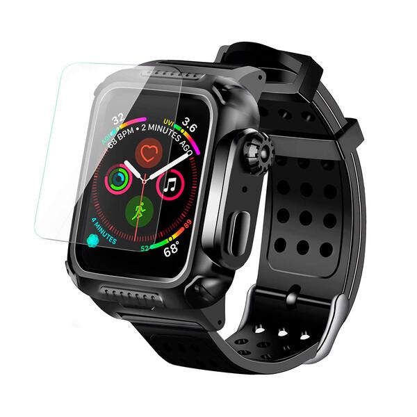 Противоударный чехол-ремешок с защитой экрана iLoungeMax Shockproof Rugged для Apple Watch 44mm SE | 6 | 5 | 4