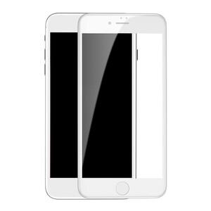 Купить Защитное 3D стекло с сеткой на динамик oneLounge SilicolEdge White для iPhone 7 Plus | 8 Plus