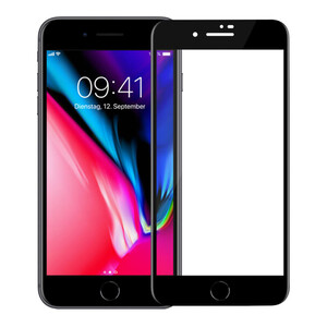 Купить Защитное 3D стекло с сеткой на динамик oneLounge SilicolEdge Black для iPhone 7 Plus | 8 Plus