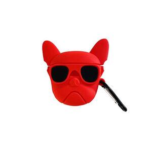 Купить Силиконовый чехол с карабином oneLounge Silicone Case AeroBull Red для AirPods 2 | 1