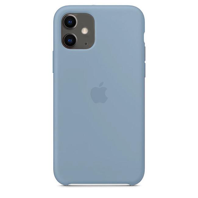 Силиконовый чехол oneLounge Silicone Case Denim Blue (Копия) для iPhone 11 Купить