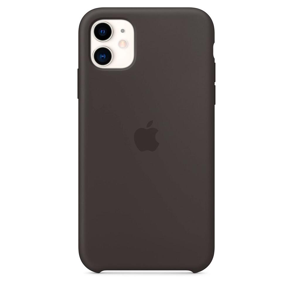 Силиконовый чехол oneLounge Silicone Case Black для iPhone 11 OEM (MWVU2)