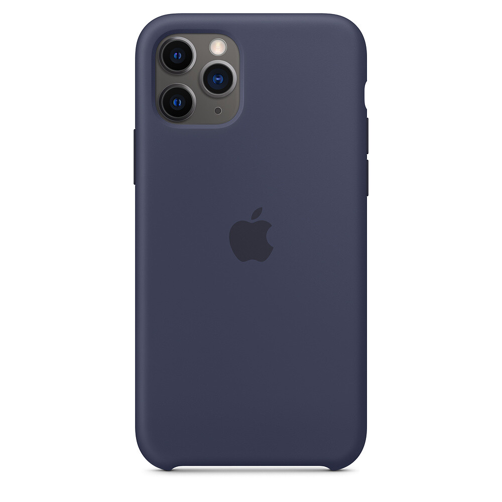 Силиконовый чехол iLoungeMax Silicone Case Midnight Blue для iPhone 11 Pro OEM (MWYJ2)