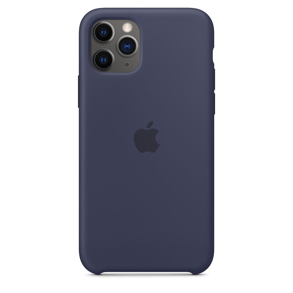 Купить Силиконовый чехол iLoungeMax Silicone Case Midnight Blue для iPhone 11 Pro Max OEM (MWYW2)