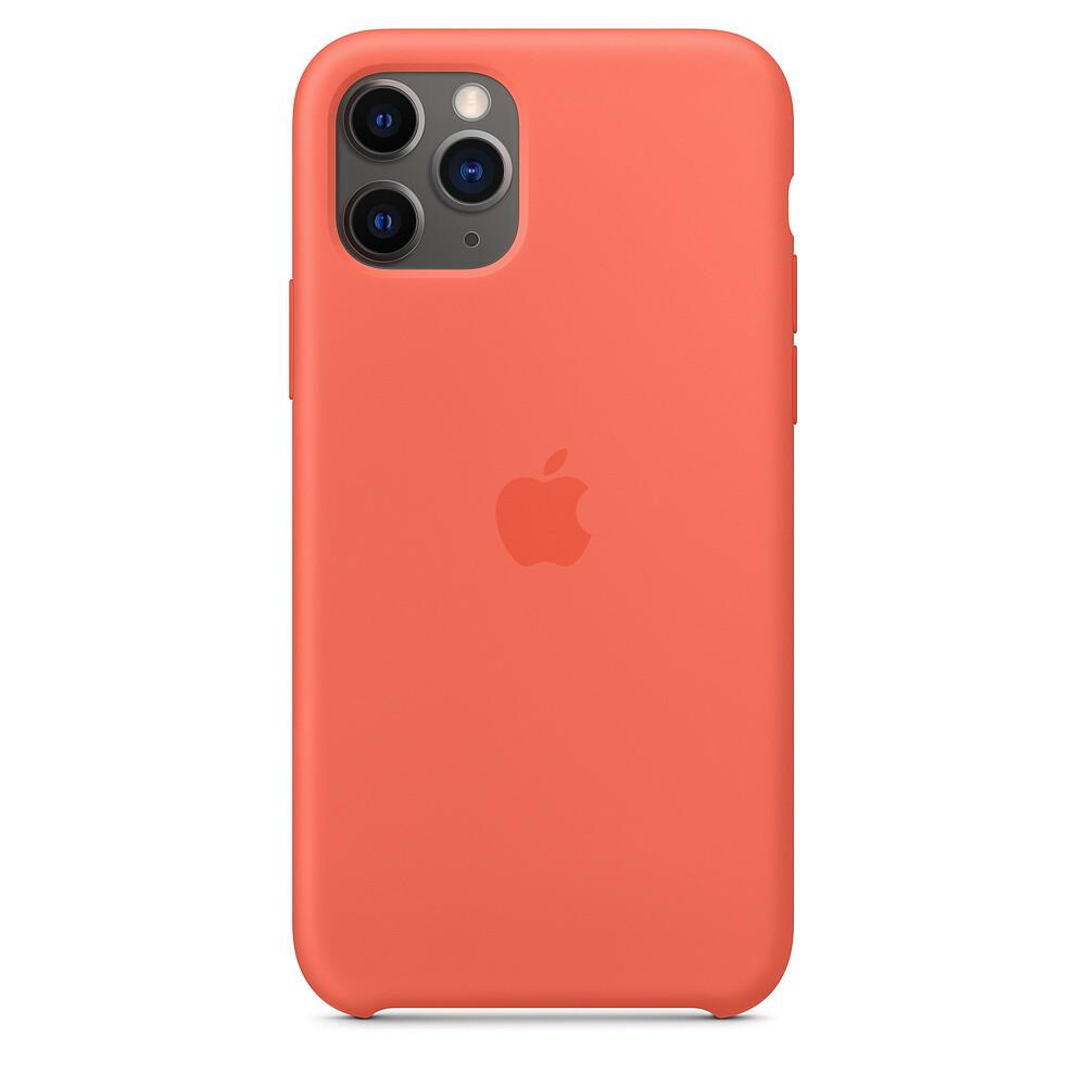Силиконовый чехол iLoungeMax Silicone Case Clementine для iPhone 11 Pro OEM (MWYQ2)