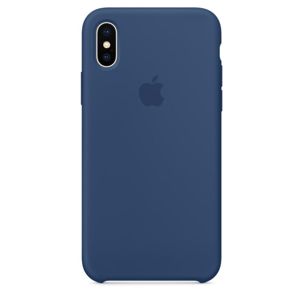 Силиконовый чехол iLoungeMax Silicone Case Blue Cobalt для iPhone X | XS OEM