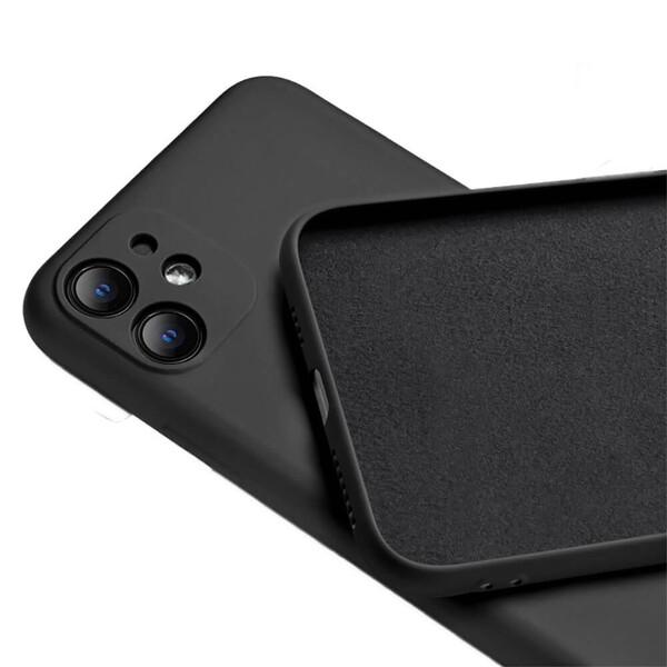 Черный силиконовый чехол iLoungeMax Silicone Case Full Camera Protective Black для iPhone 11