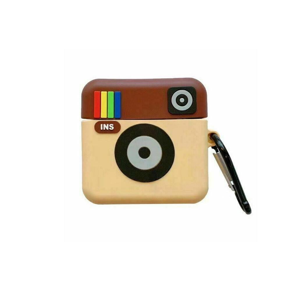 Силиконовый чехол с карабином iLoungeMax Silicone Case Instagram для AirPods 2   1