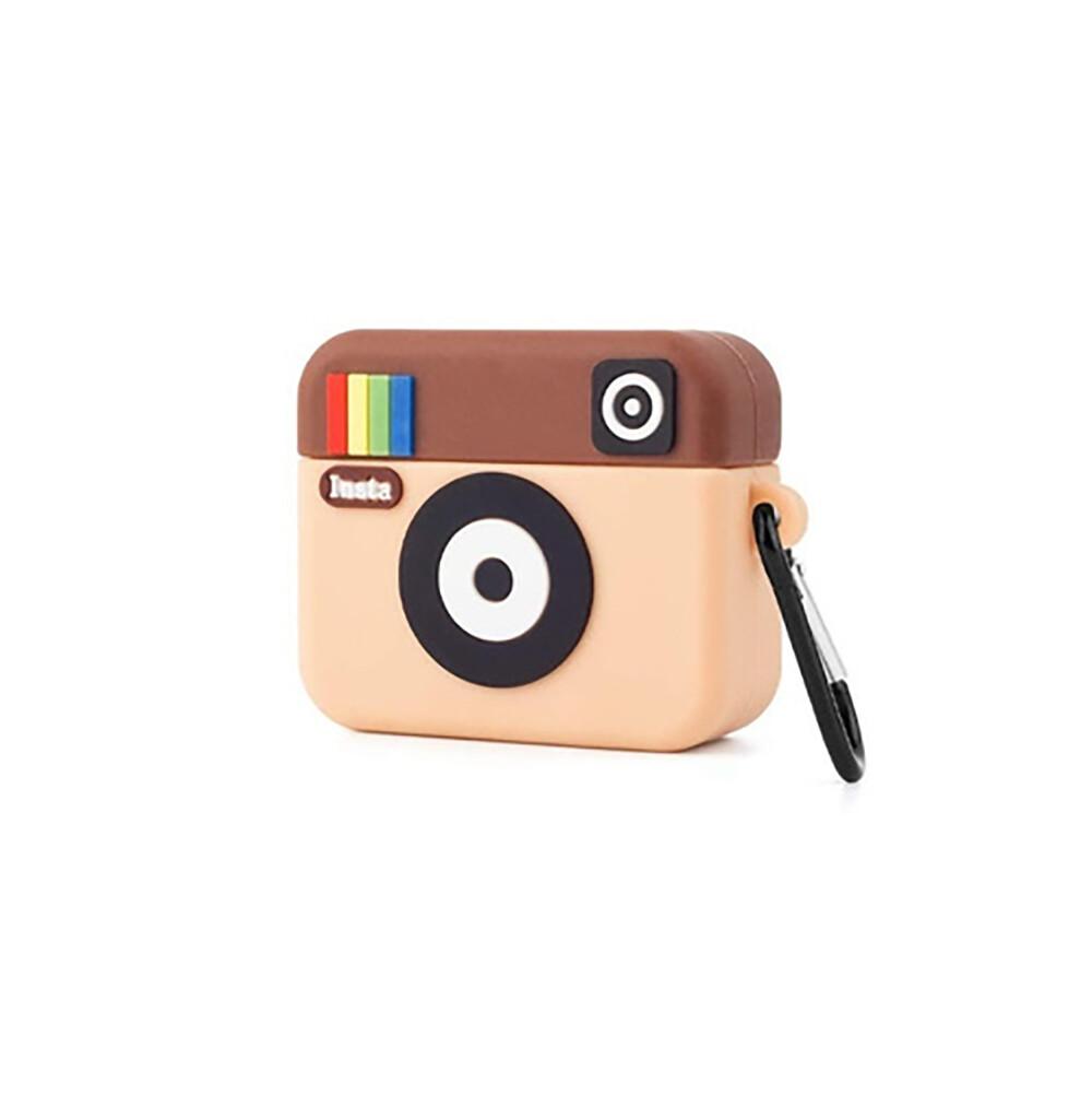 Силиконовый чехол с карабином iLoungeMax Silicone Case Instagram для AirPods Pro