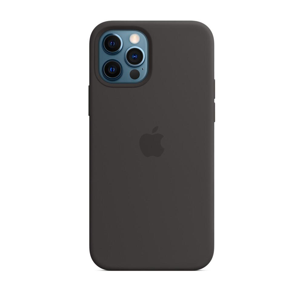 Черный силиконовый чехол iLoungeMax Silicone Case для iPhone 12 Pro Max OEM