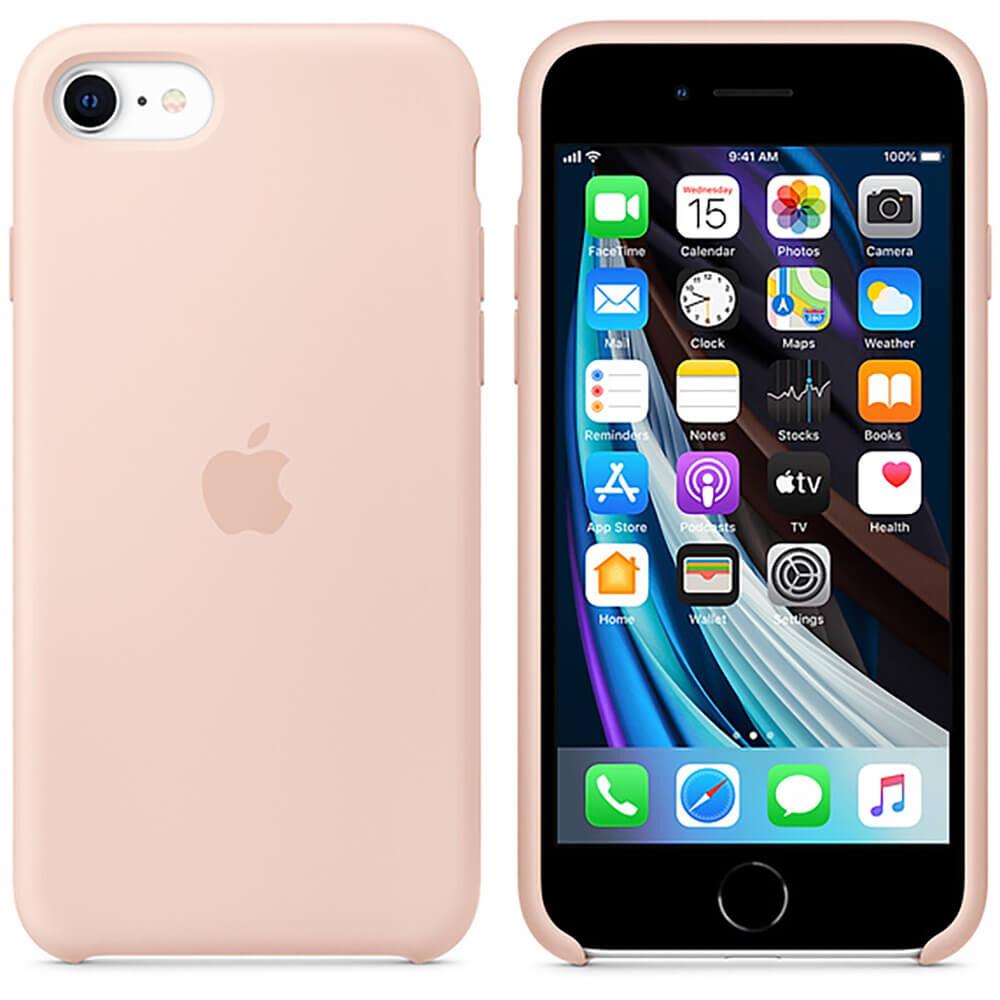 Силиконовый чехол iLoungeMax Silicone Case Pink Sand для iPhone SE 2020   8   7 OEM (MXYK2)