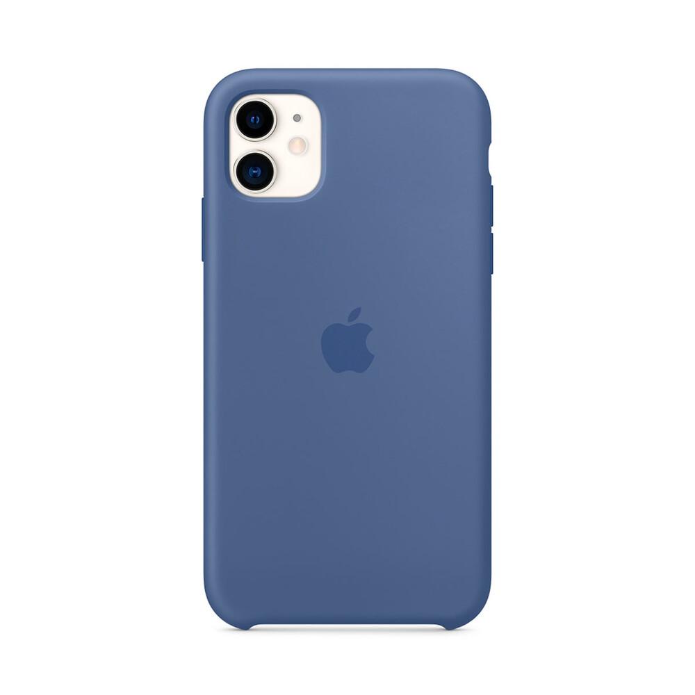 Силиконовый чехол iLoungeMax Silicone Case Linen Blue для iPhone 11 OEM (MY1A2)