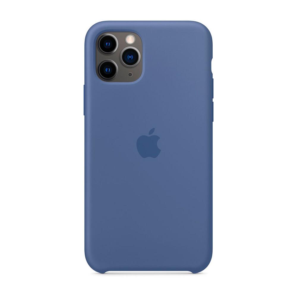 Силиконовый чехол iLoungeMax Silicone Case Linen Blue для iPhone 11 Pro OEM (MY172)