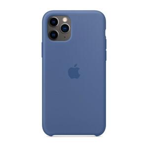 Купить Силиконовый чехол oneLounge Silicone Case Linen Blue для iPhone 11 Pro Max OEM (MY122)