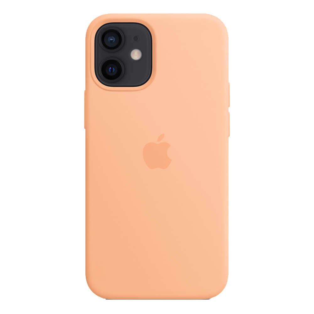 Силиконовый чехол iLoungeMax Silicone Case MagSafe Cantaloupe для iPhone 12 mini OEM (c поддержкой анимации)