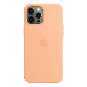 Купить Силиконовый чехол oneLounge Silicone Case MagSafe Cantaloupe для iPhone 12 Pro Max OEM (с поддержкой анимации)