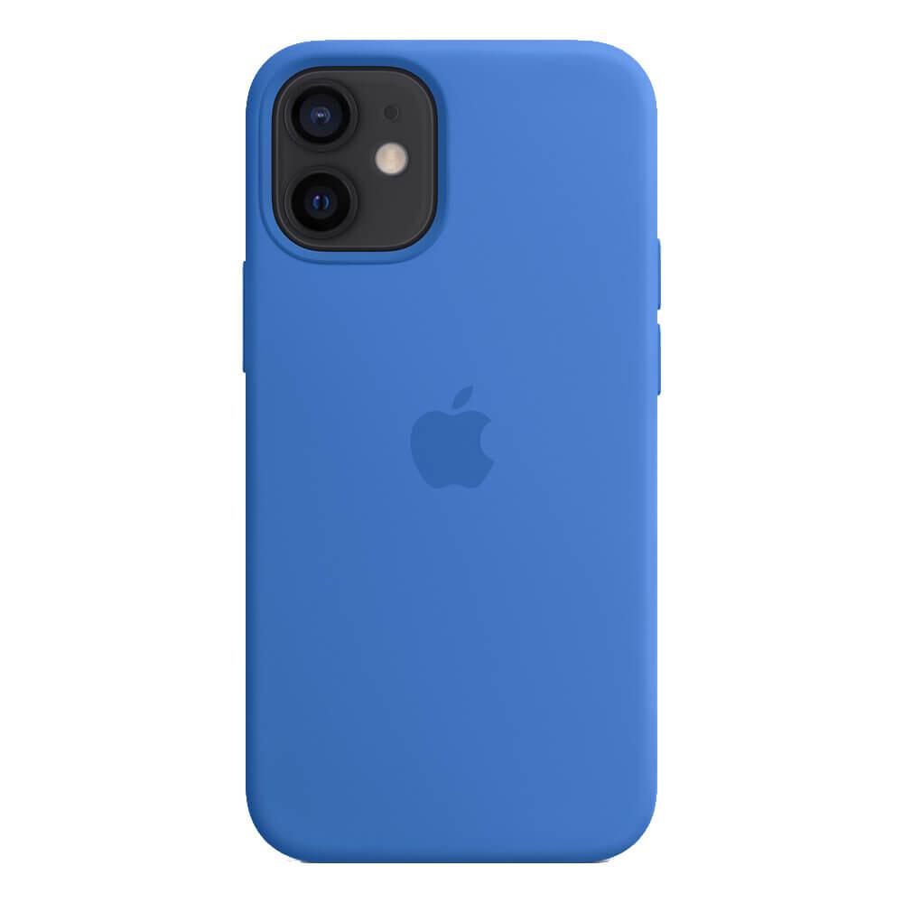 Силиконовый чехол iLoungeMax Silicone Case MagSafe Capri Blue для iPhone 12 mini OEM (c поддержкой анимации)