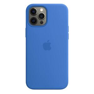 Купить Силиконовый чехол iLoungeMax Silicone Case MagSafe Capri Blue для iPhone 12 Pro Max OEM (c поддержкой анимации)