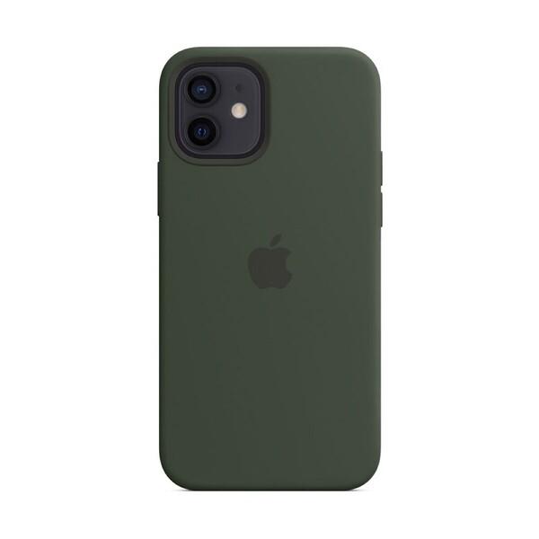 Силиконовый чехол iLoungeMax Silicone Case MagSafe Cyprus Green для iPhone 12 | 12 Pro OEM (c поддержкой анимации)