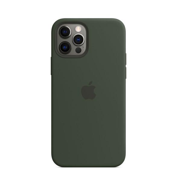 Силиконовый чехол iLoungeMax Silicone Case MagSafe Cyprus Green для iPhone 12 Pro Max OEM