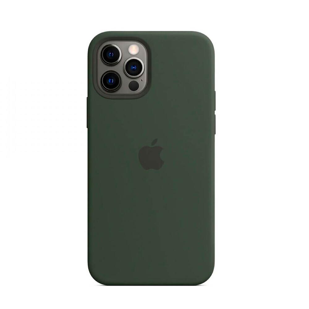 Силиконовый чехол iLoungeMax Silicone Case MagSafe Cyprus Green для iPhone 12 Pro Max OEM (c поддержкой анимации)