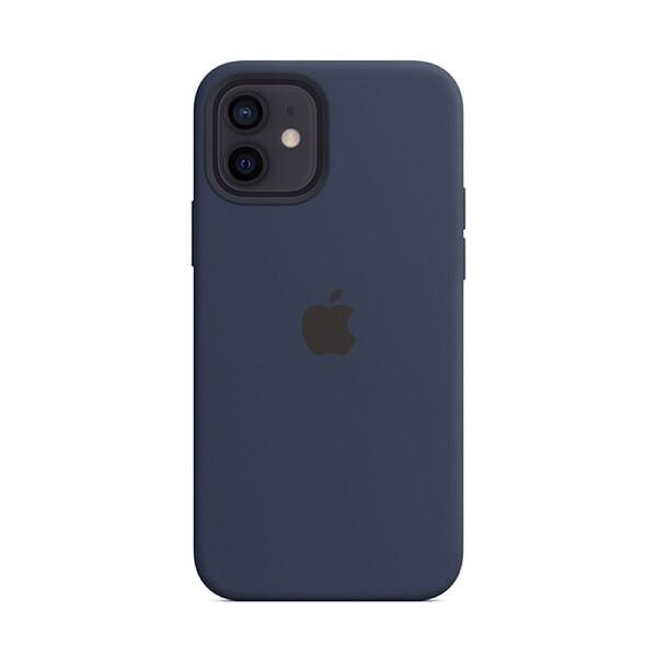 Силиконовый чехол iLoungeMax Silicone Case MagSafe Deep Navy для iPhone 12 | 12 Pro OEM (c поддержкой анимации)