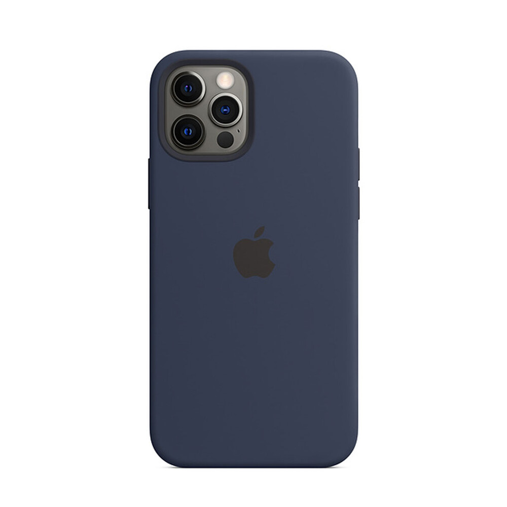 Силиконовый чехол iLoungeMax Silicone Case MagSafe Deep Navy для iPhone 12 Pro Max OEM