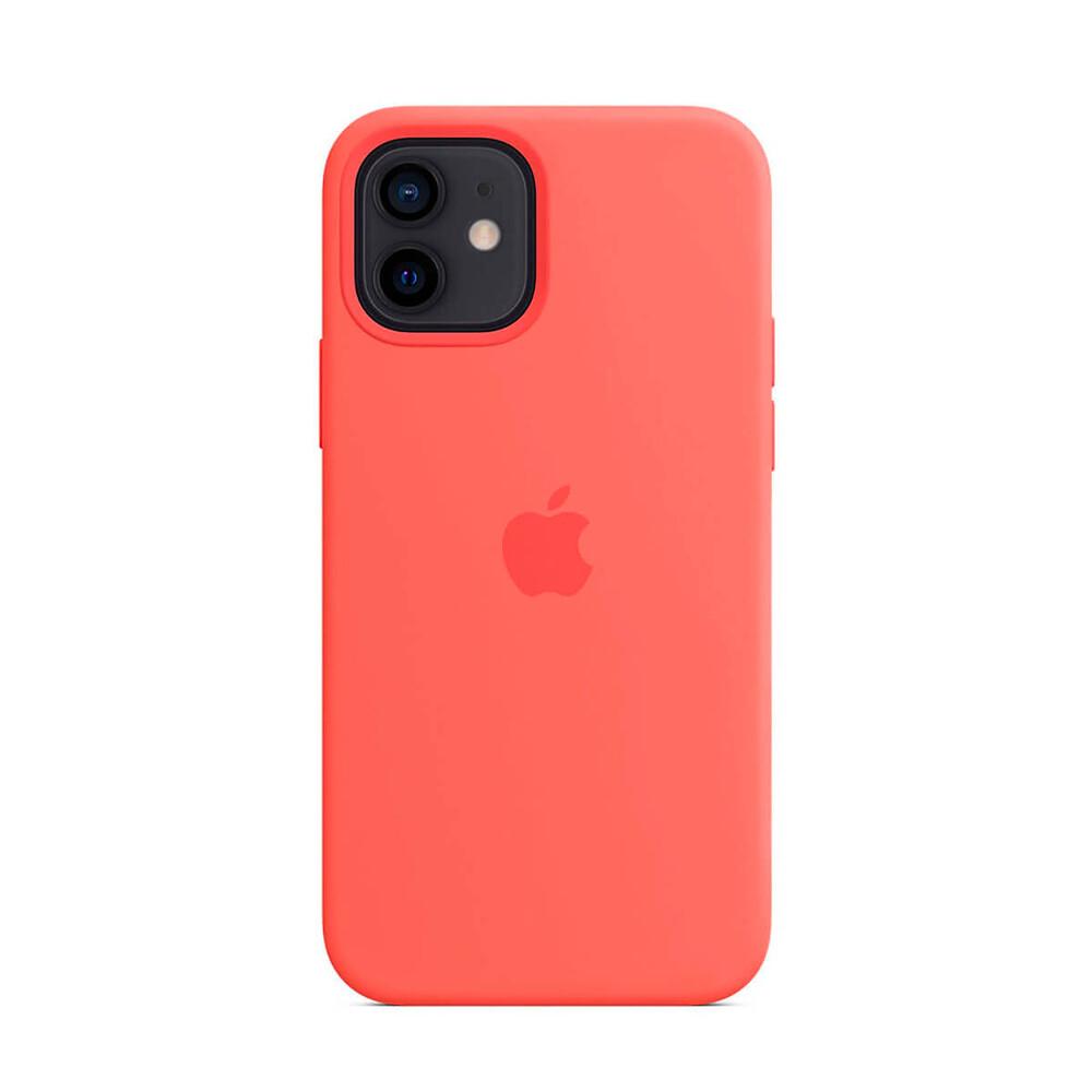 Силиконовый чехол iLoungeMax Silicone Case MagSafe Pink Citrus для iPhone 12 mini OEM (c поддержкой анимации)