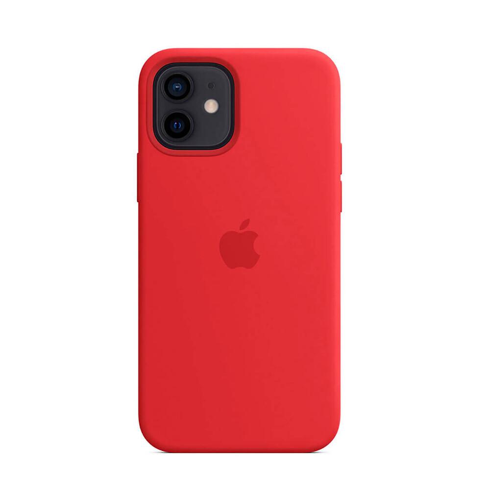 Силиконовый чехол iLoungeMax Silicone Case MagSafe Red для iPhone 12 mini OEM (c поддержкой анимации)