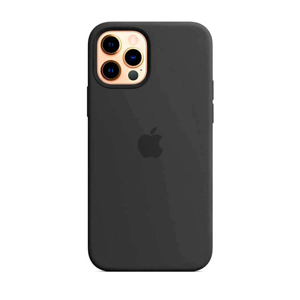 Черный силиконовый чехол iLoungeMax Silicone Case MagSafe Black для iPhone 12 Pro Max OEM (c поддержкой анимации)
